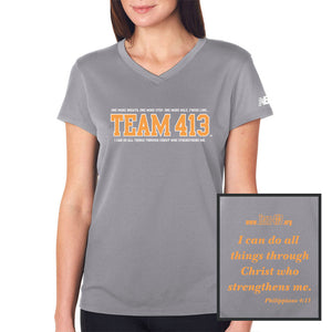 TEAM 413: Women's SS Tech Tee - Gravel