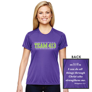 TEAM 413: Women's Cooling Performance SS Tech Tee - Purple