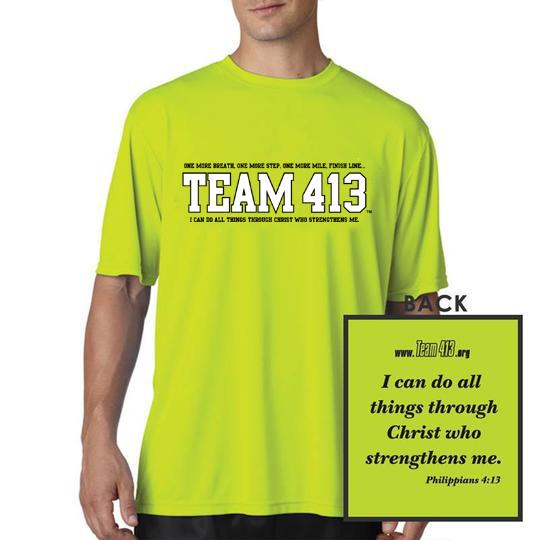 TEAM 413: Men's A4 SS Tech Tee - Safety Yellow