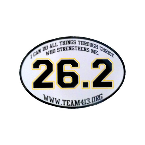 TEAM 413: 26.2 Decal - White