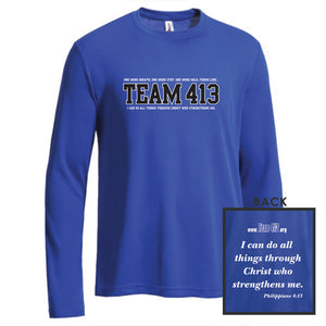 TEAM 413: Men's LS Tech Tee - Royal