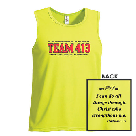 TEAM 413: Men's Sleeveless Tech Tank - Key Lime