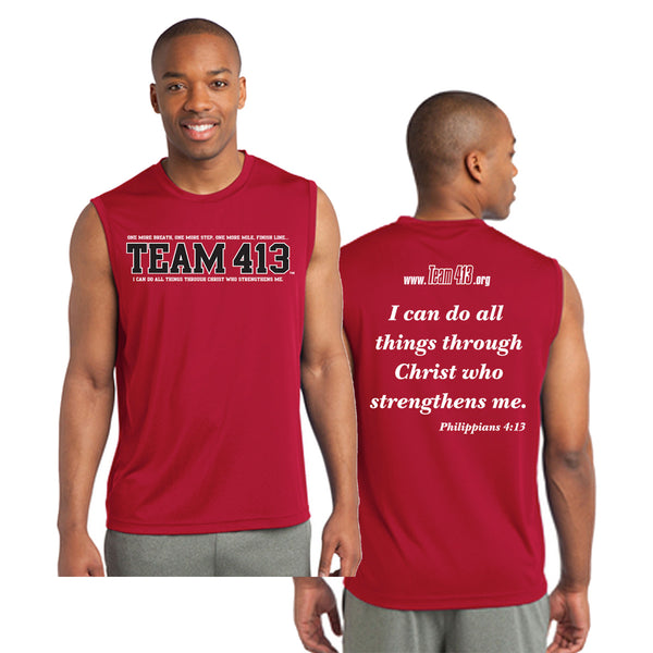 Team 413: Men's Red Sleeveless Tee