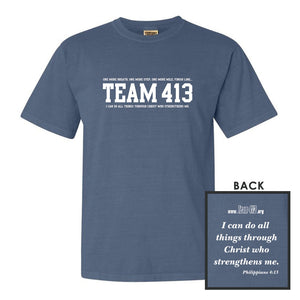 TEAM 413: 'TEAM 413 Design' Men's SS Cotton Tee - Blue Jean