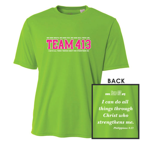 TEAM 413: Design' Youth SS Tech Tee - Lime