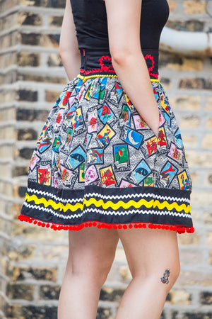 Loteria Card Mexican-Inspired Dirndl Skirt