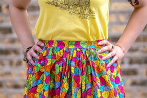 Sassy Candy Heart Dirndl Skirt | Ready to Ship US Size 10