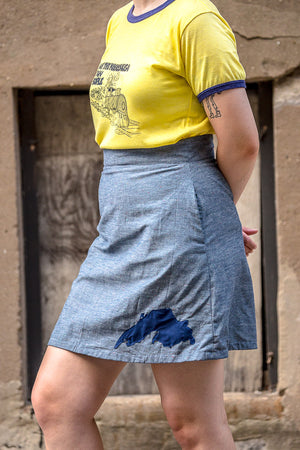 Lake Superior A-Line Mini Skirt | Ready to Wear Size 10