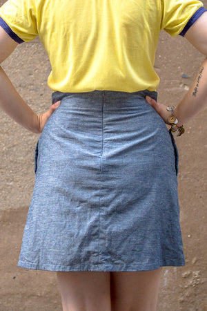 Lake Superior A-Line Mini Skirt | (hand)Made to Order