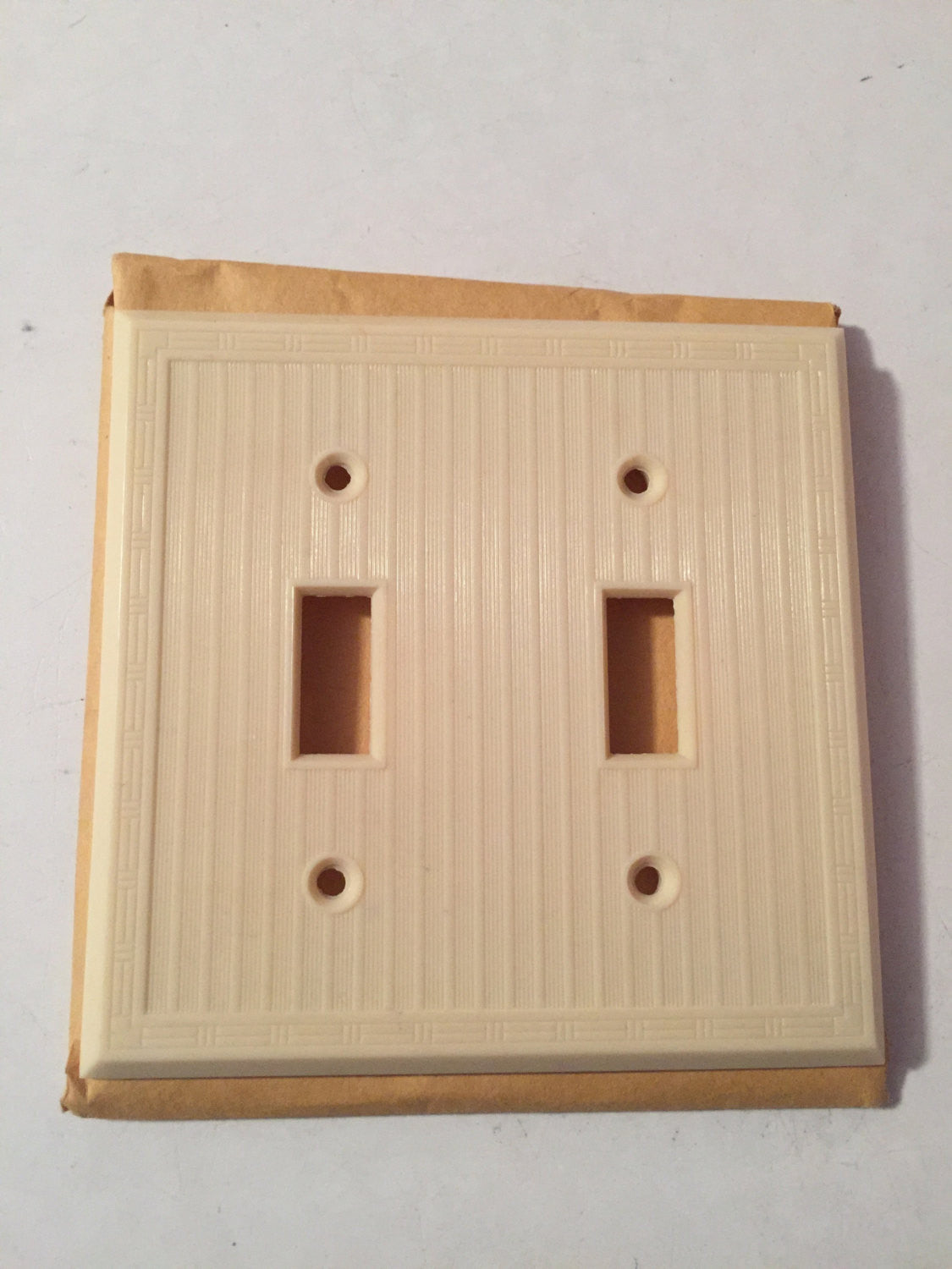 Ivory Bakelite Tumbler Switchplate Cover | New Old Stock