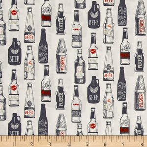 Craft Brew Print Fit and Flare A-Line Dress