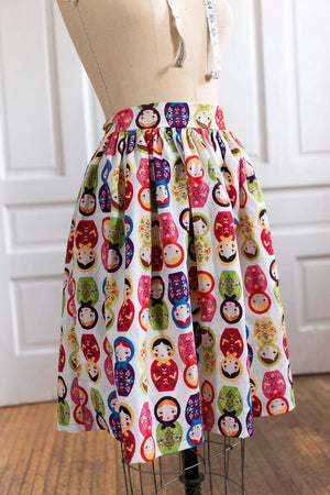 Matryoshka Russian Nesting Doll Dirndl Skirt | Ready to Wear Size 14