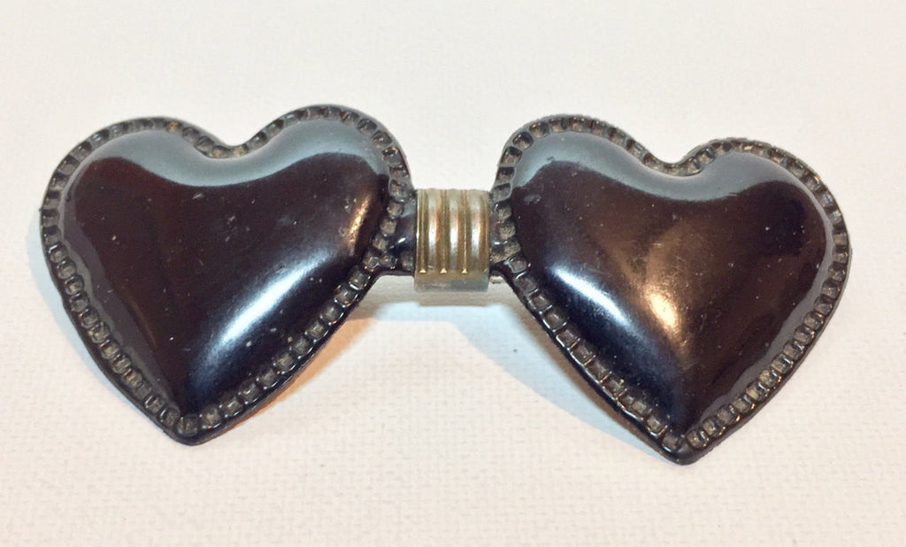 Clip-On Heart Bow Tie | Vintage 1960s