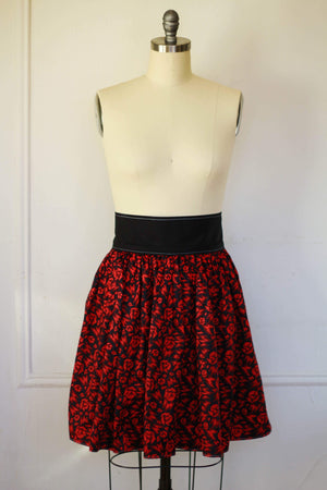 Geometric Rose Dirndl Skirt | Ready to Wear Size 14