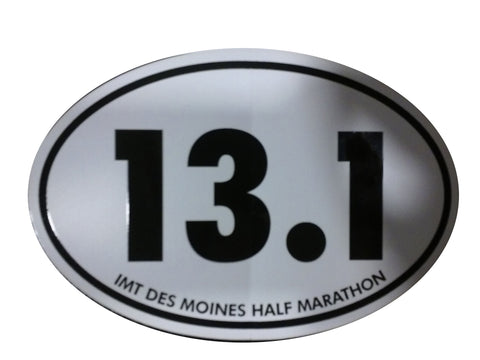 Des Moines Marathon: 13.1 Decal - White