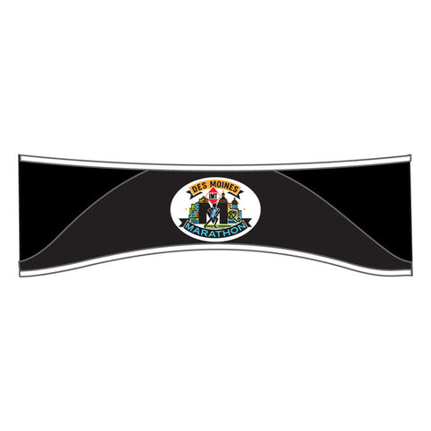 Des Moines Marathon: 'Event Logo' Thermal Headband - Black - by Headsweats