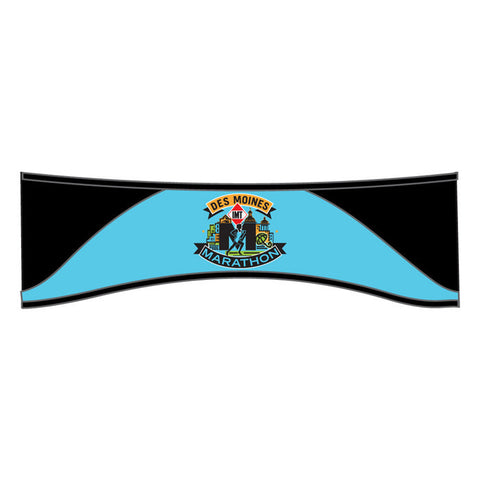 Des Moines Marathon: 'Event Logo' Thermal Headband - Black / Powder Blue - by Headsweats