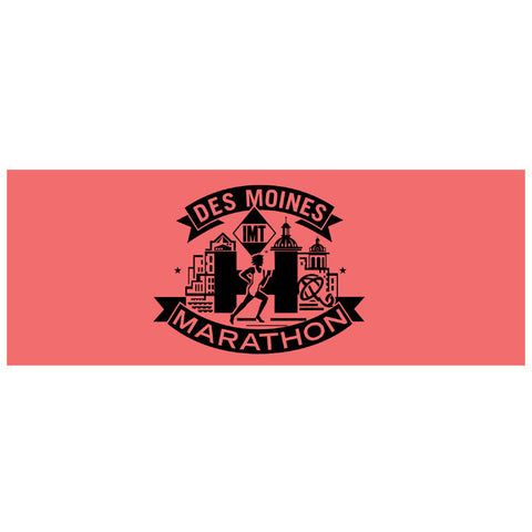 Des Moines Marathon: 'Event Logo Full Marathon' Technical Headband - Coral - by Bondiband