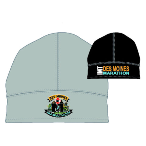 Des Moines Marathon: 'Event Logo' Thermal Reversible Beanie - Grey / Black - by Headsweats