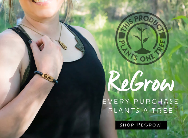 ReGrow Colorado California laser cut bamboo jewelry every purchase plants a tree