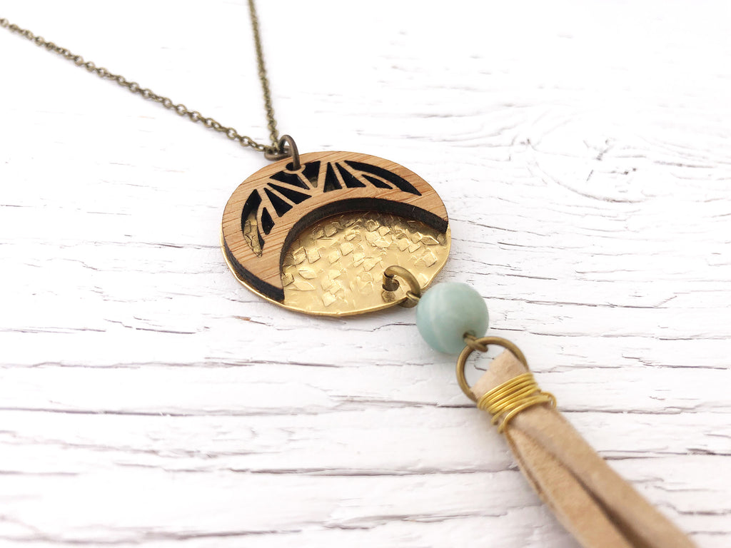 Long Crescent Fusion Necklace