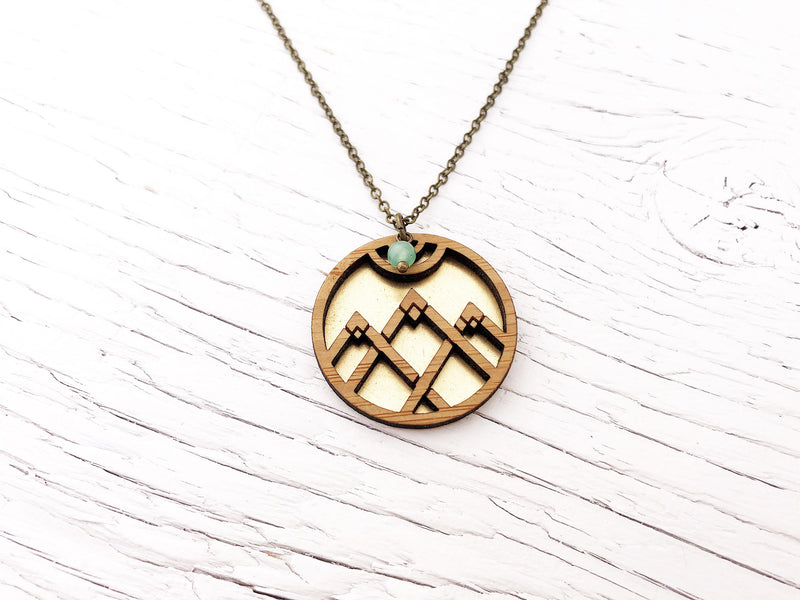 Long Fusion Triangle Necklace
