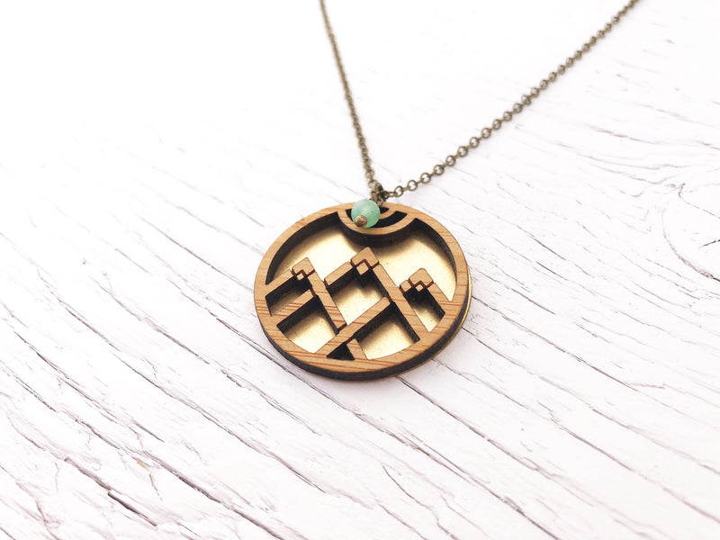 Modern Mountain Fusion Necklace