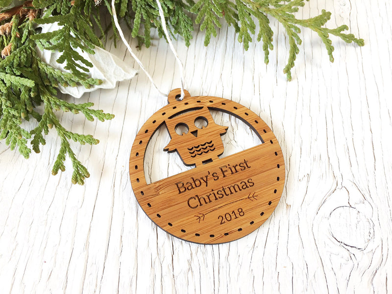 Baby's First Christmas Owl Ornament