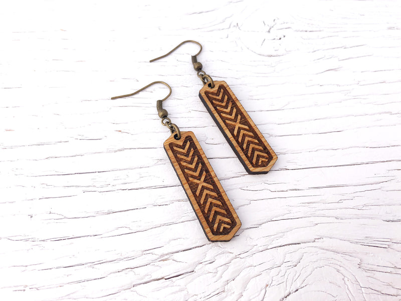 Chevron Diffuser Earrings