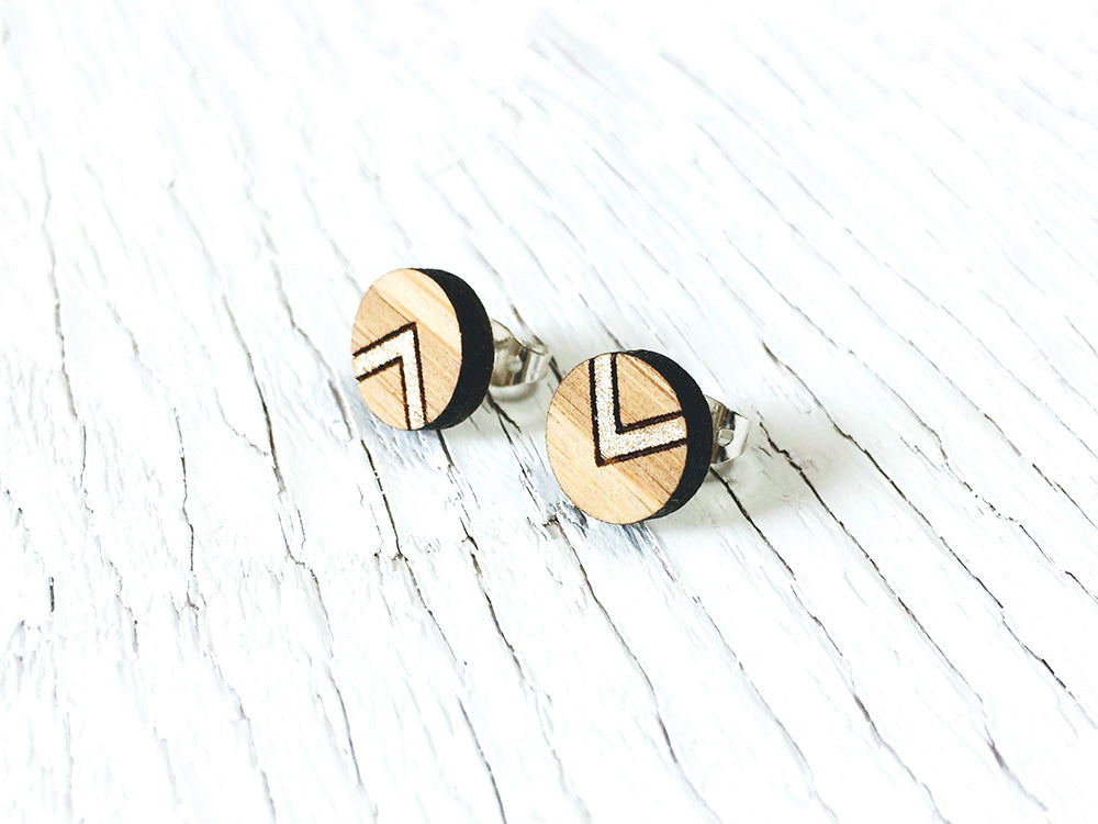 Chevron Stud Earrings
