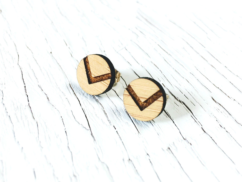 Chevron Diffuser Stud Earrings