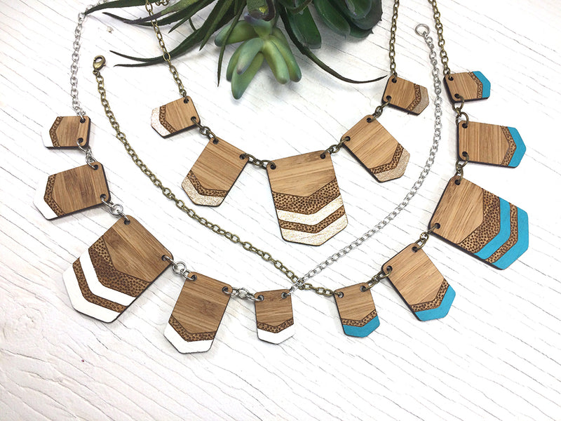 Tribal Chevron Statement Necklace