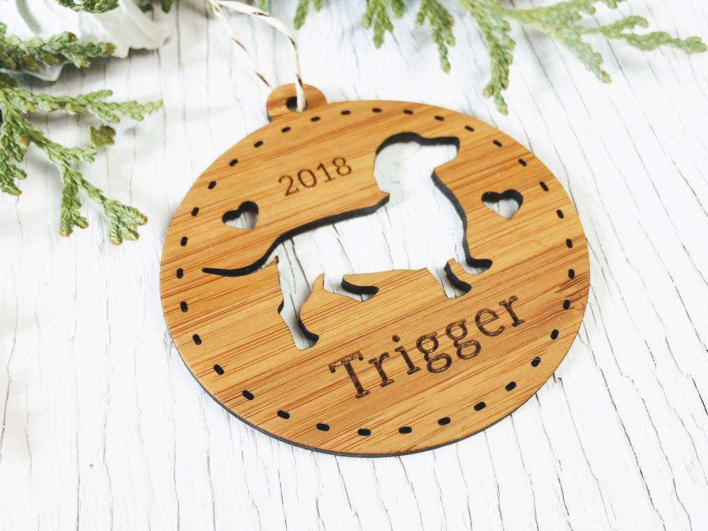 Custom Dachshund Ornament