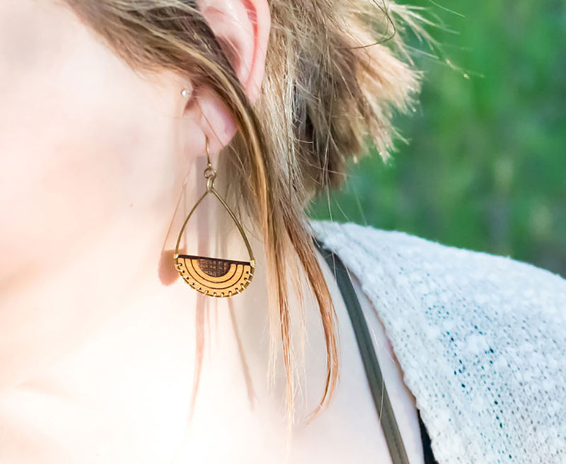 Geo Drop Fusion Earrings