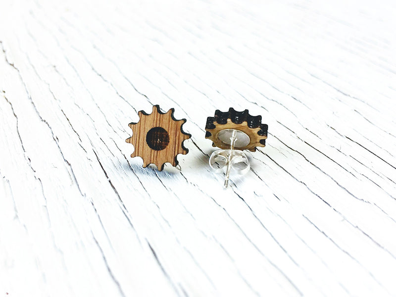 Gear Stud Earrings