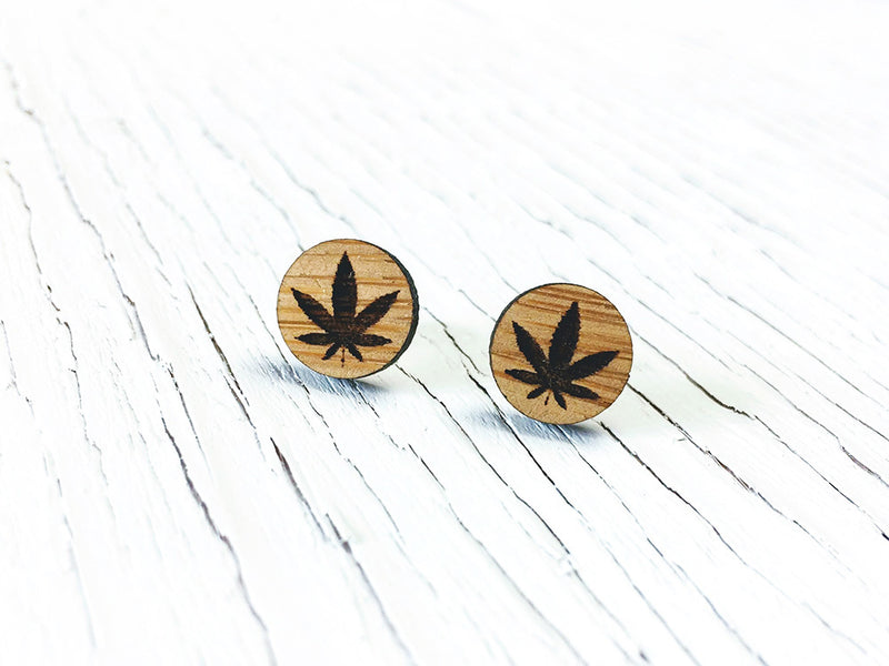 Hemp Stud Earrings