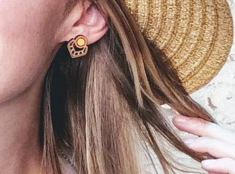 Eastern Bloom Boho Stud Earrings