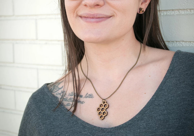Honeycomb Diffuser Necklace