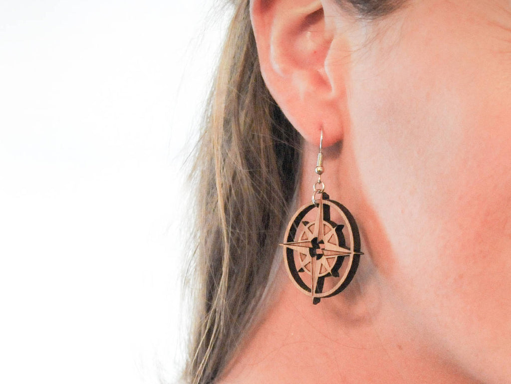 Compass Dangle Earrings