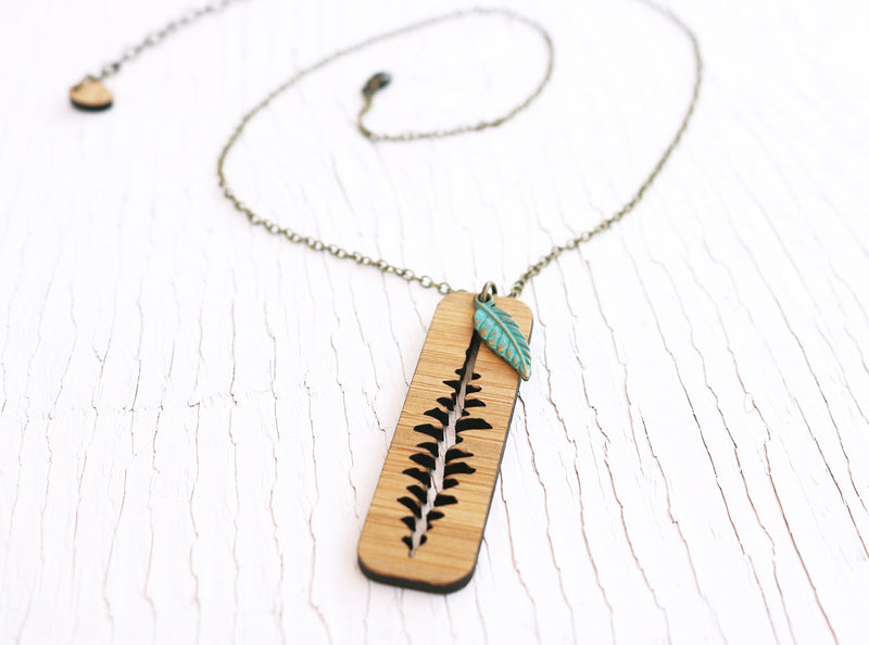Upside Down Pine Tree Necklace