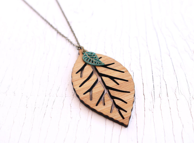 Painted Crescent Fusion Necklace