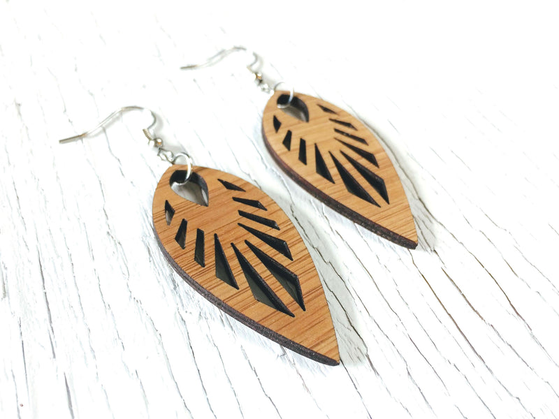 Art Deco Bamboo Dangle Earrings