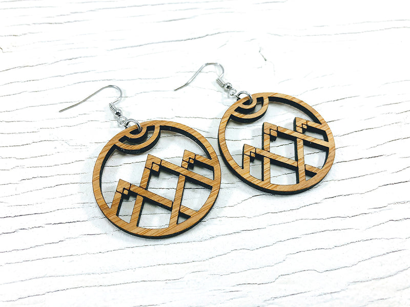 Triple Hexagon Dangle Earrings