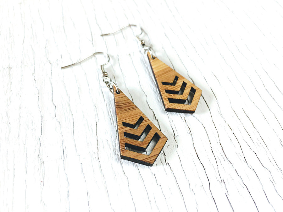 Triple Chevron Kite Earrings