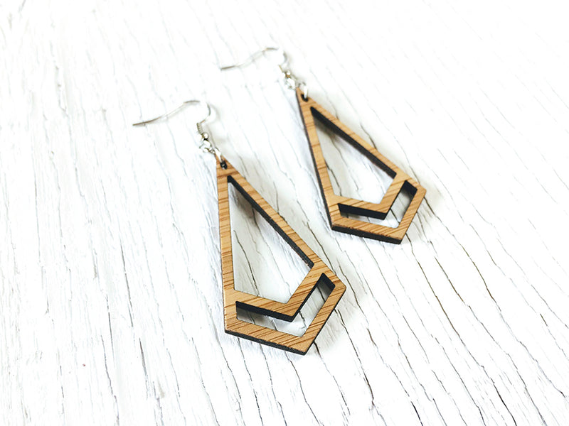 Double Triangle Fusion Statement Earrings