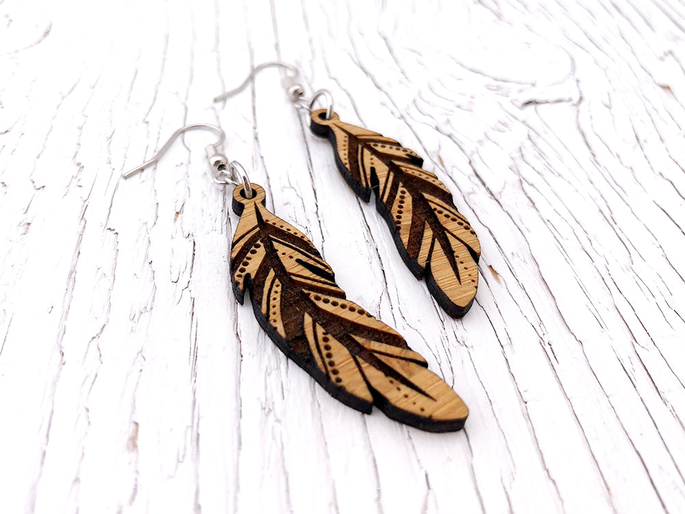 Feather Diffuser Earrings