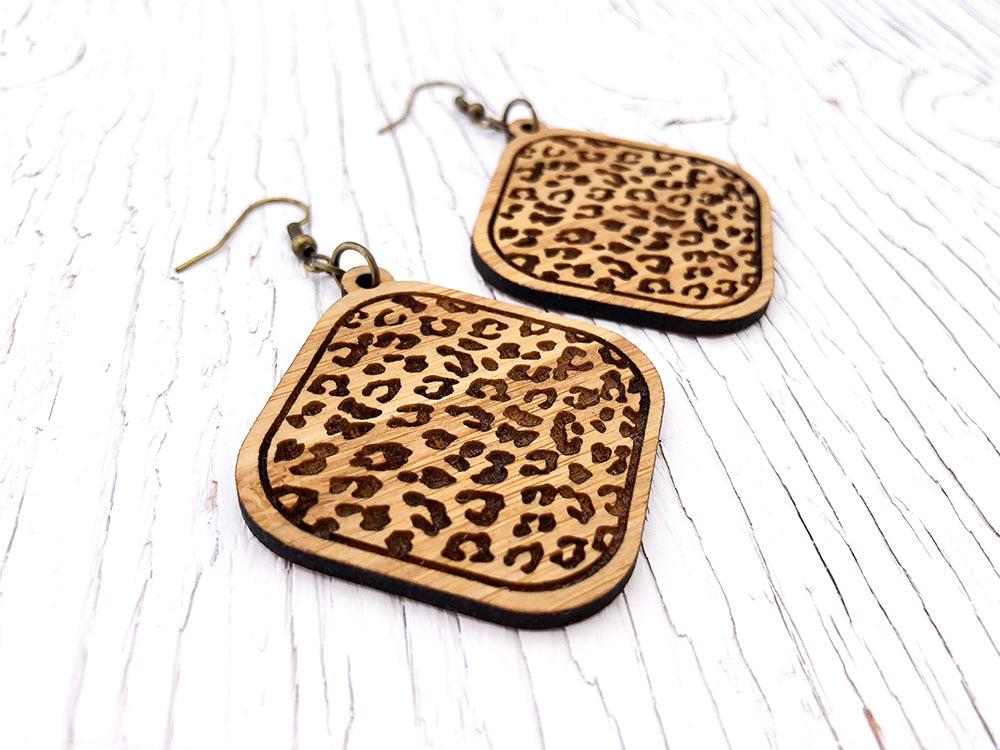 Leopard Statement Diffuser Earrings