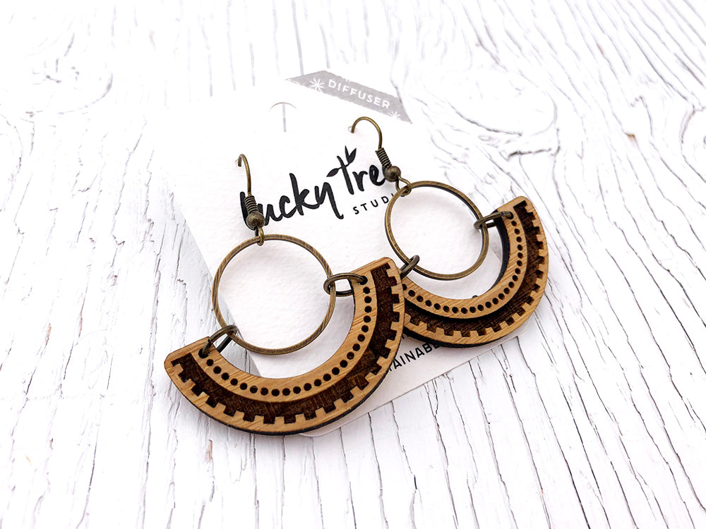 Southwest Circle Diffuser Earrings