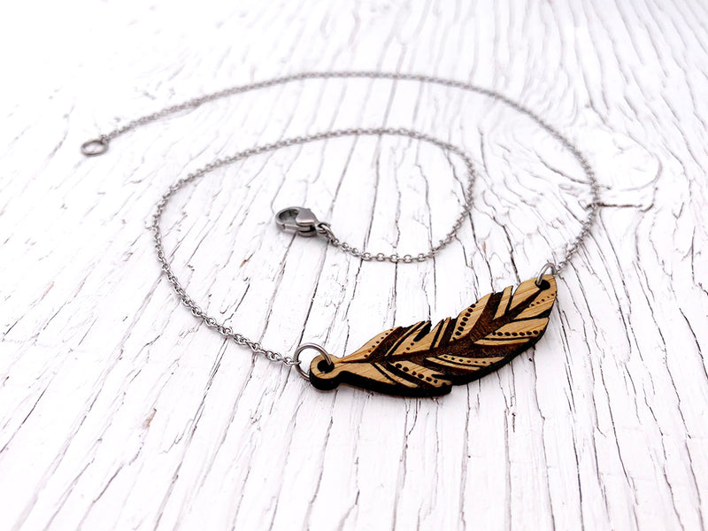 Boho Feather Diffuser Necklace