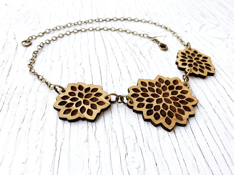 Desert Bloom Statement Diffuser Necklace